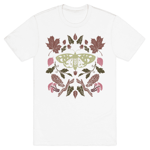 Woodland Moth Mens T-Shirt
