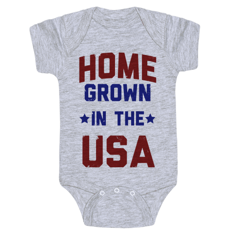 Home Grown In The USA Baby Onesy