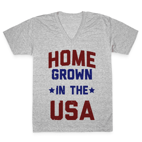 Home Grown In The USA V-Neck Tee Shirt
