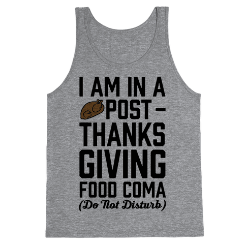 I Am In A Post- Thanksgiving Food Coma (Do Not Disturb) Tank Top