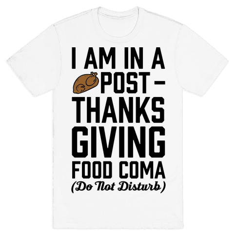 I Am In A Post- Thanksgiving Food Coma (Do Not Disturb) Mens T-Shirt