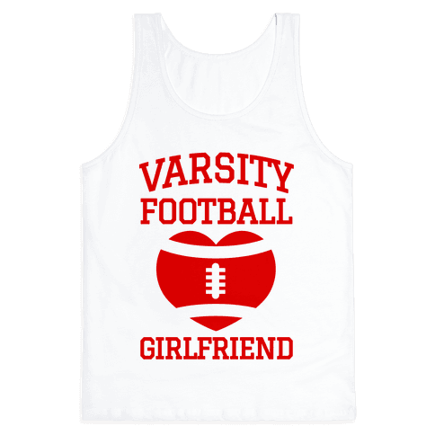 Varsity Football Girlfriend (red) Tank Top