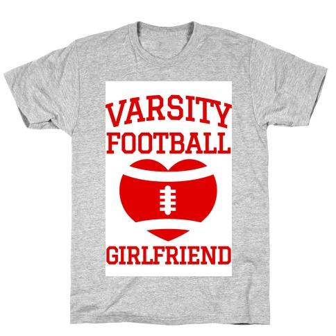 Varsity Football Girlfriend (red) T-Shirt