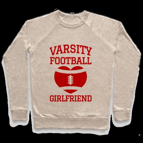 Varsity Football Girlfriend (red) Pullover