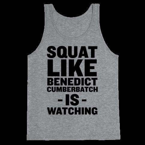 Squat Like Benedict Cumberbatch Tank Top