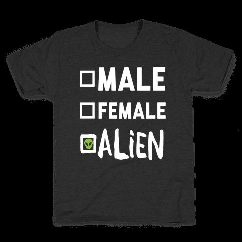 Male Female Alien Kids T-Shirt