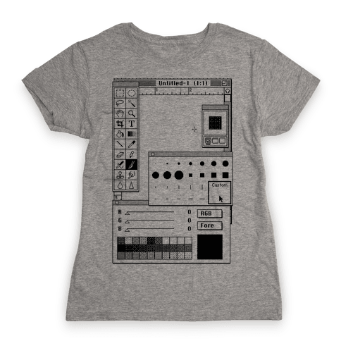 Photoshop Pixel Tools Womens T-Shirt