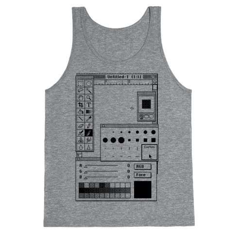 Photoshop Pixel Tools Tank Top