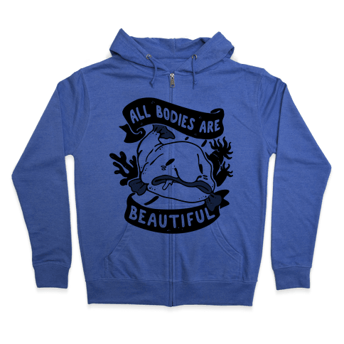All Bodies Are Beautiful Blobfish Zip Hoodie