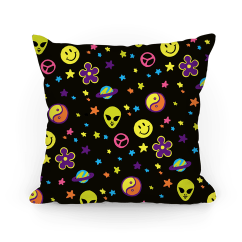 Cosmic 90s Pattern Pillow