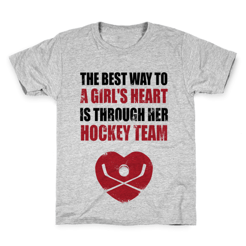 The Best Way To a Girl's Heart is Her Hockey Team Kids T-Shirt