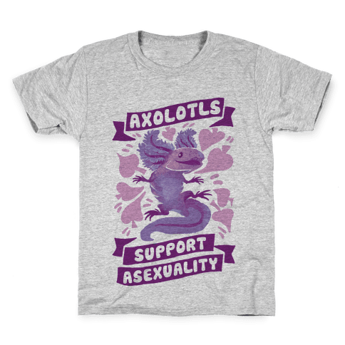 Axolotls Support Asexuality Kids T-Shirt