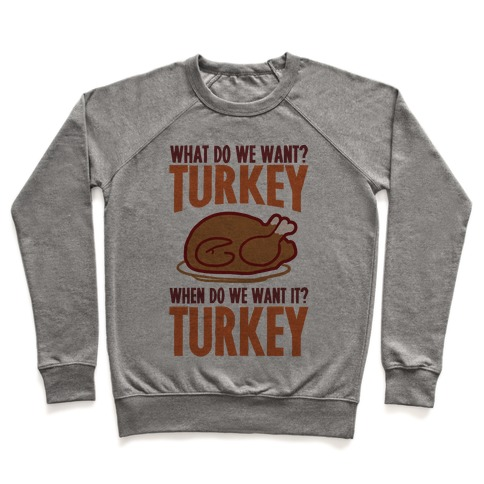 What Do We Want? Turkey When Do We Want It? Turkey Pullover