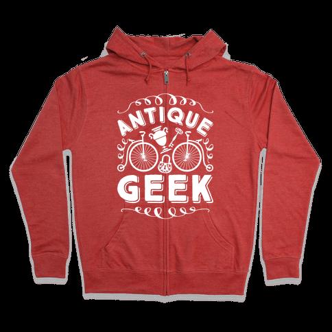 Antique Geek Zip Hoodie