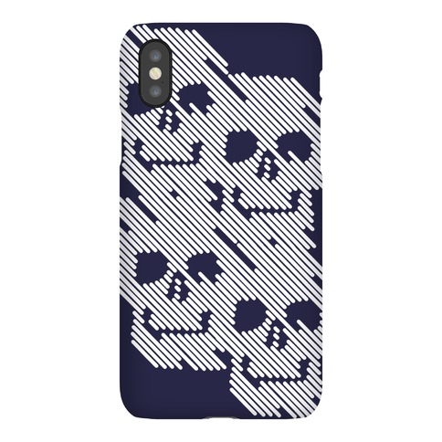 Repeating Skull Bars Phone Case