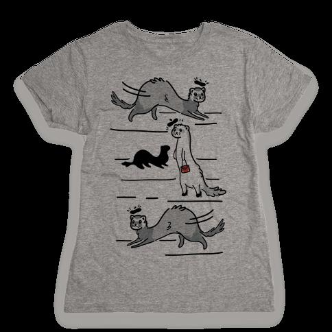 French Fashion Model Ferrets Womens T-Shirt