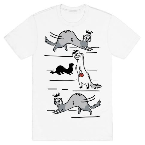French Fashion Model Ferrets Mens T-Shirt