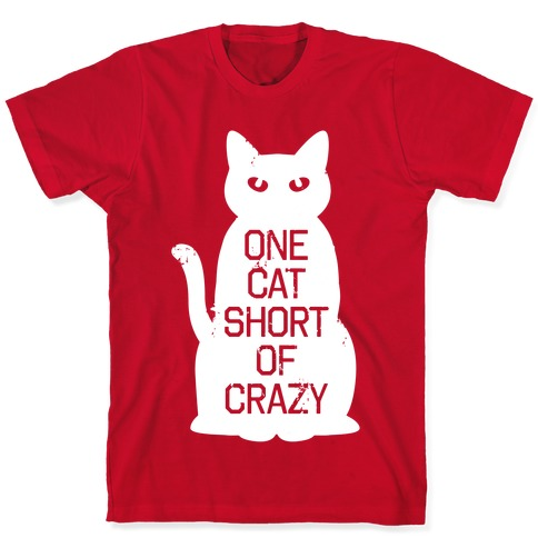 One Cat Short of Crazy Mens Womens Unisex Sweatshirt