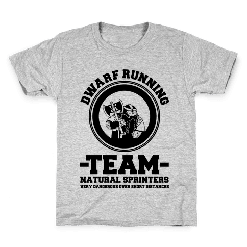 Dwarf Running Team Kids T-Shirt