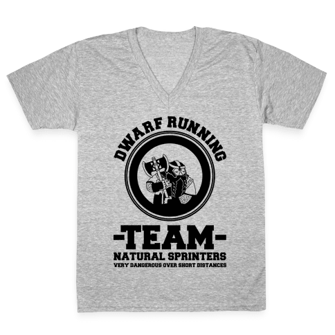 Dwarf Running Team V-Neck Tee Shirt