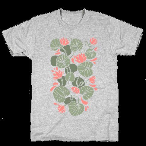 Art Nouveau Water Lilies Mens T-Shirt