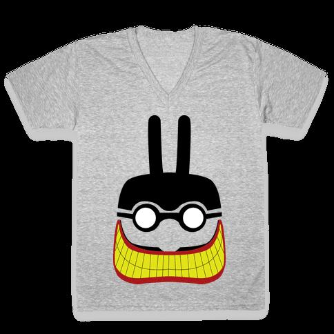 Meanie Minimal V-Neck Tee Shirt