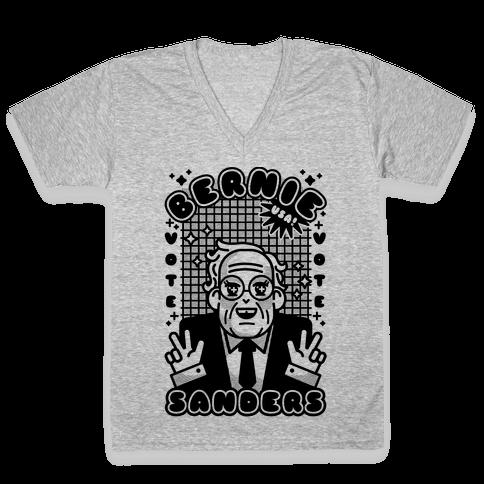 Anime Bernie Sanders V-Neck Tee Shirt