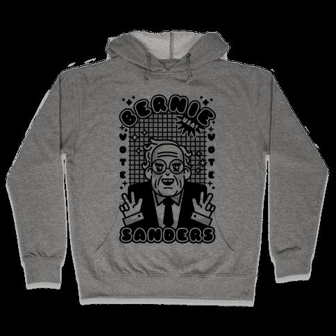 Anime Bernie Sanders Hooded Sweatshirt