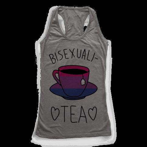 Bisexuali-TEA Racerback Tank Top