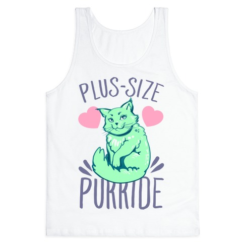Plus-Size Purride Tank Top
