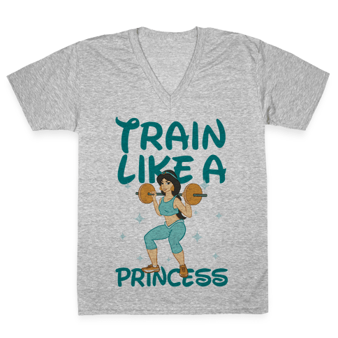 Train Like a Princess V-Neck Tee Shirt