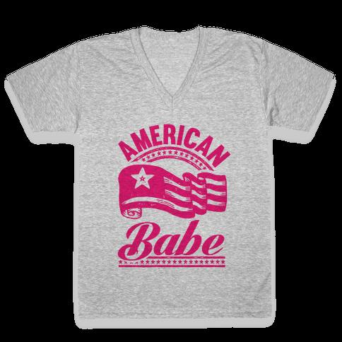 American Babe V-Neck Tee Shirt
