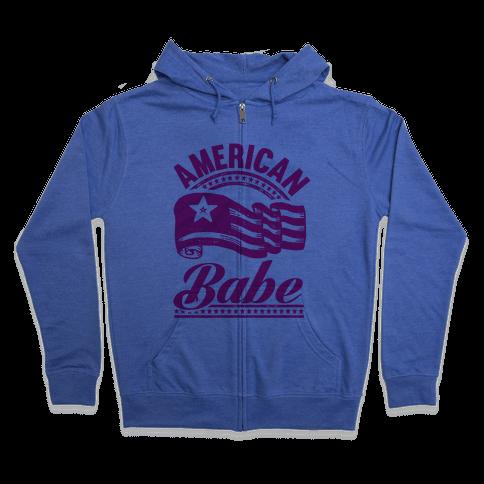 American Babe Zip Hoodie