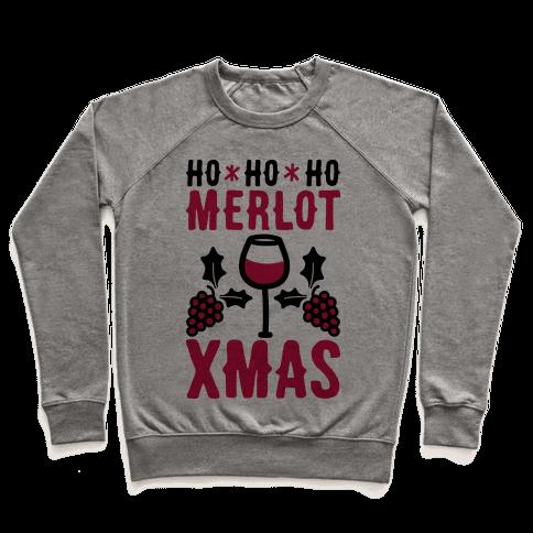 Ho Ho Ho Merlot Christmas Pullover