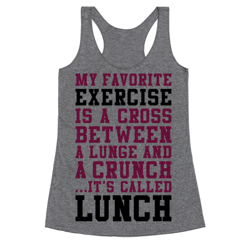 Lunge Crunch Lunch Racerback Tank Top