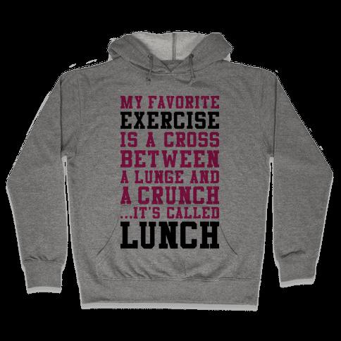 Lunge Crunch Lunch Hooded Sweatshirt