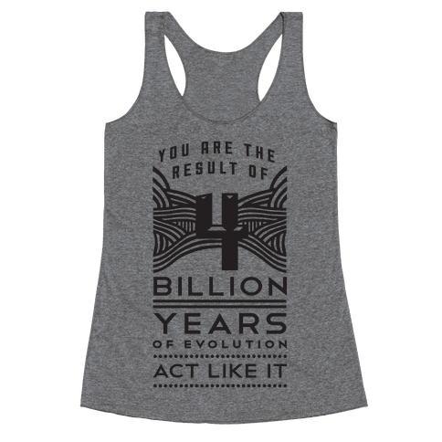 4 Billion Years Racerback Tank Top