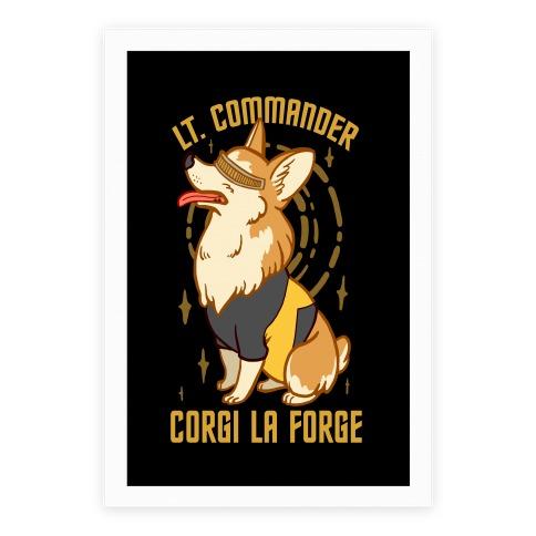 Lieutenant Commander Corgi La Forge Parody Poster