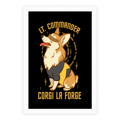 Lieutenant Commander Corgi La Forge Parody