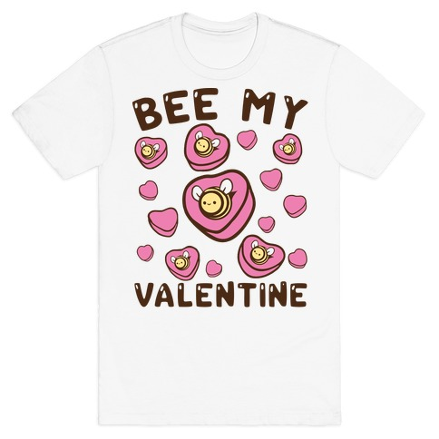 Bee My Valentine Mens T-Shirt
