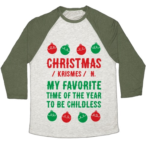 Christmas Definition Baseball Tee