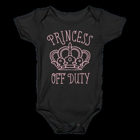 Princess Off Duty Baby Onesy