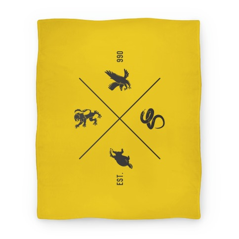 Hogwarts Crest Blanket (Hufflepuff) Blanket