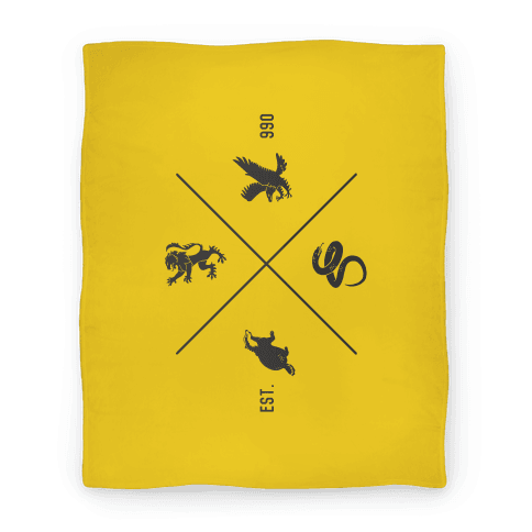 Hogwarts Crest Blanket (Hufflepuff)