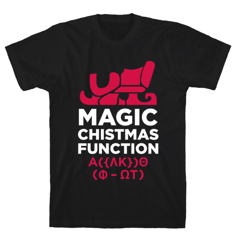 Magic Christmas Function (White Ink) Mens T-Shirt