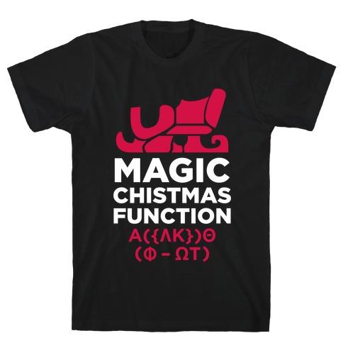 Magic Christmas Function (White Ink) T-Shirt