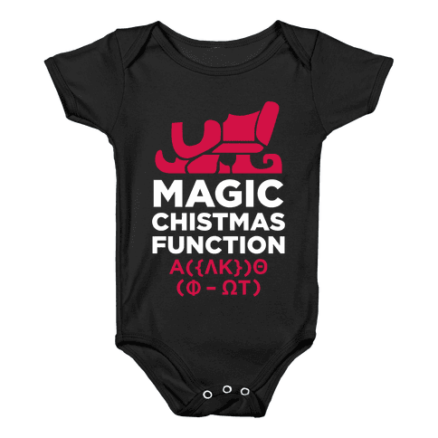 Magic Christmas Function (White Ink) Baby Onesy