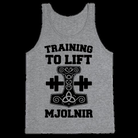 Training to Lift Mjolnir Tank Top