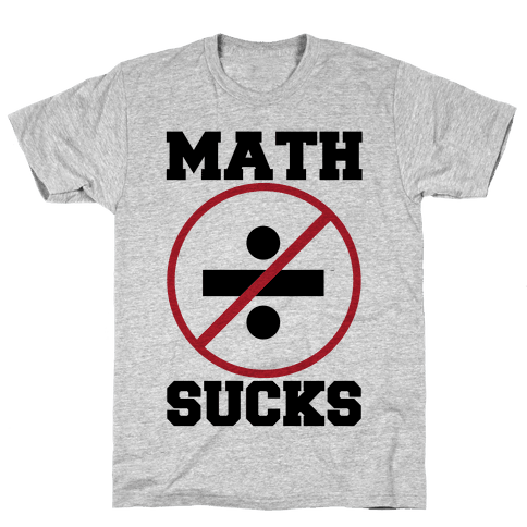 Math Sucks Mens T-Shirt