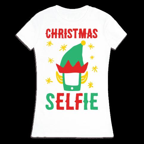 Christmas Selfie Womens T-Shirt